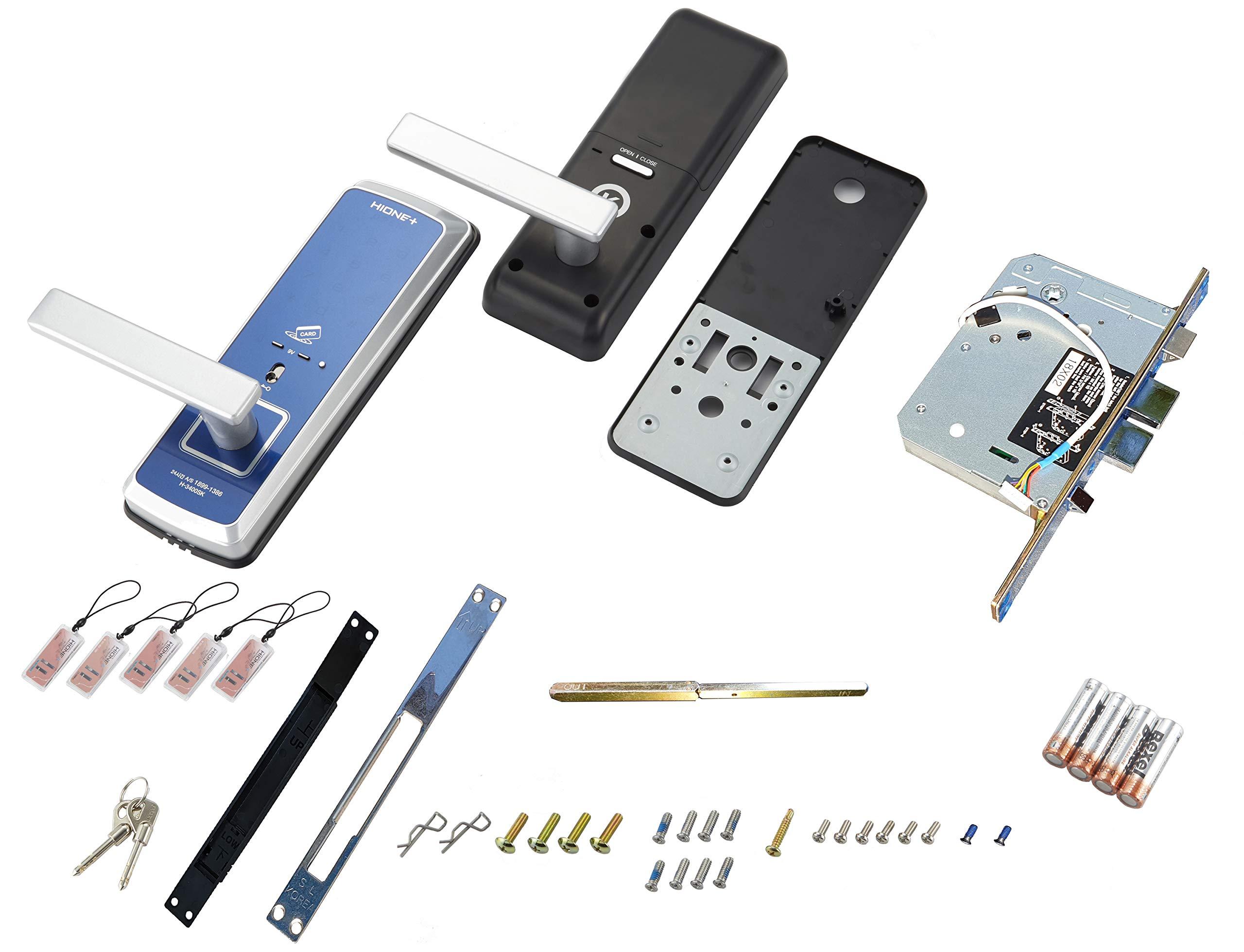 HionePlus H-3400SK, Digital Mini Main Door Lock, PIN+Card+Emergency Key by Hioneplus (Image #5)