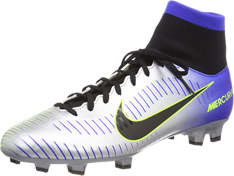 Nike Mercurial Victory Vi Racer Blue Black - Chrome Volt Ankle-High Soccer  Shoe 7cd2a0710f970