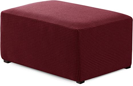Round Ottoman Slipcover Footstool Protector Covers Stool Ottoman Covers Stretch
