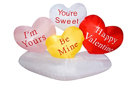 c9ce6bd96bb10 Amazon.com: SEASONBLOW 6 Ft Inflatable Valentine Day Sweet Heart ...