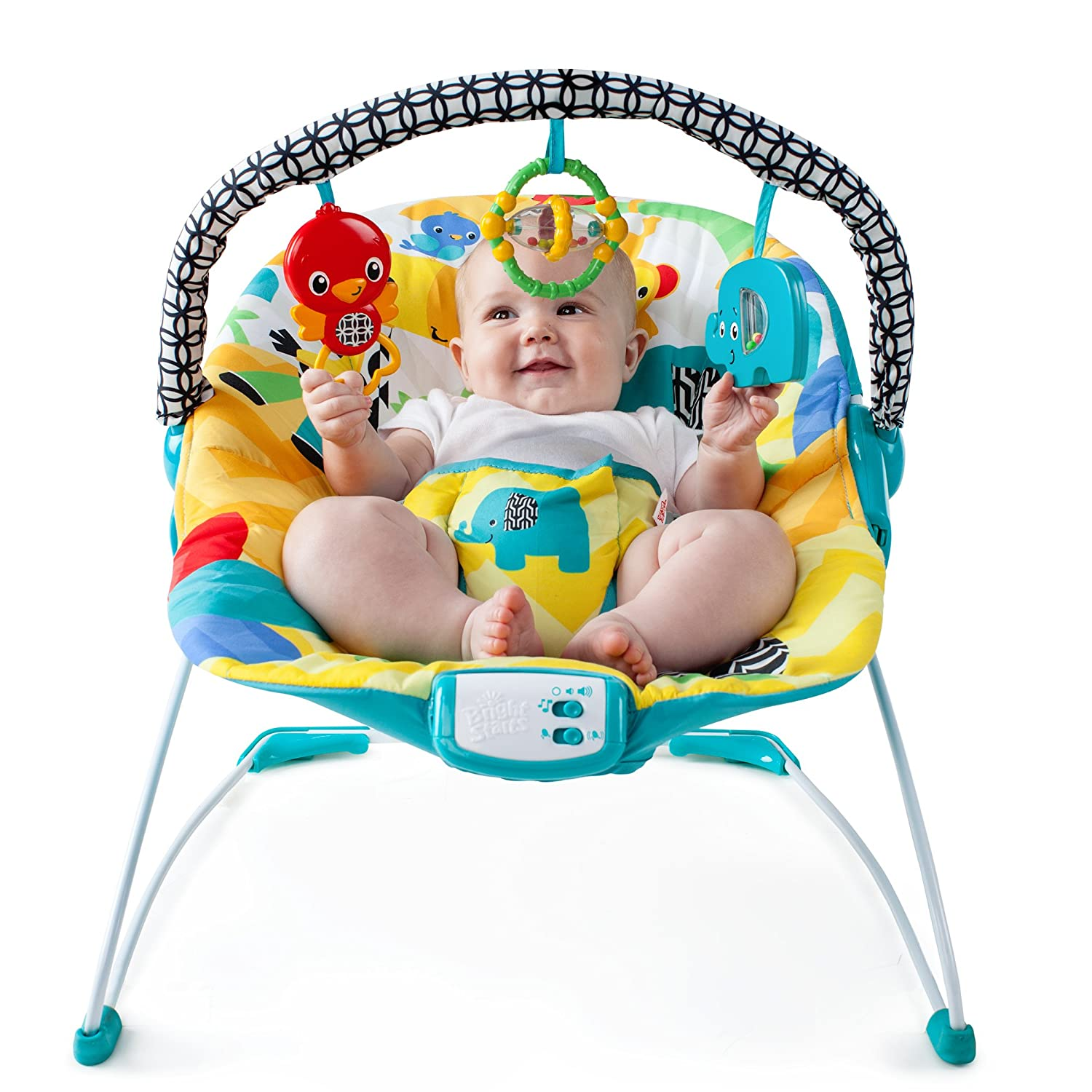 Amazon Bright Starts Safari Smiles Bouncer Baby
