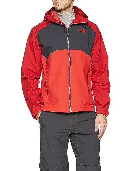 The North Face M Stratos Jacket Chaqueta, Hombre, Rojo/Asfalto, S