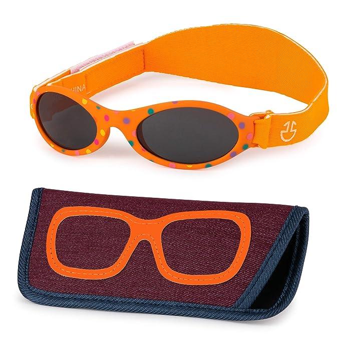 Amazon.com: Gafas de sol para bebé con correa, para niños y ...