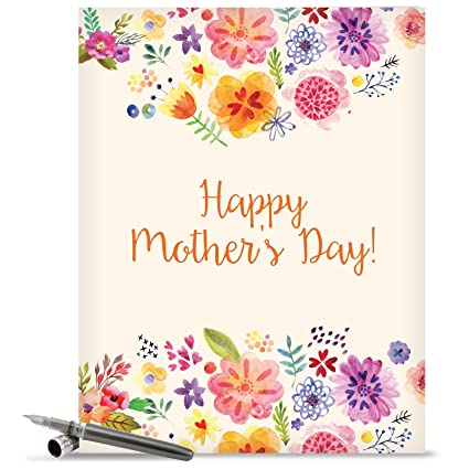 Amazon jumbo mothers day card grateful greetings featuring jumbo mothers day card grateful greetings featuring images of sweet floral sprays surrounding the words m4hsunfo