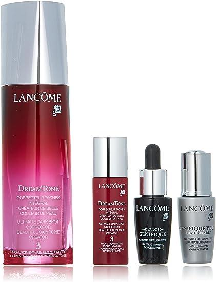 Lancome Dreamtone Set: Dreamtone 3 40ml + Dreamtone 3 7ml + Genifique Yeux 5ml + Advanced Genifique 7ml 4pcs: Amazon.es: Belleza