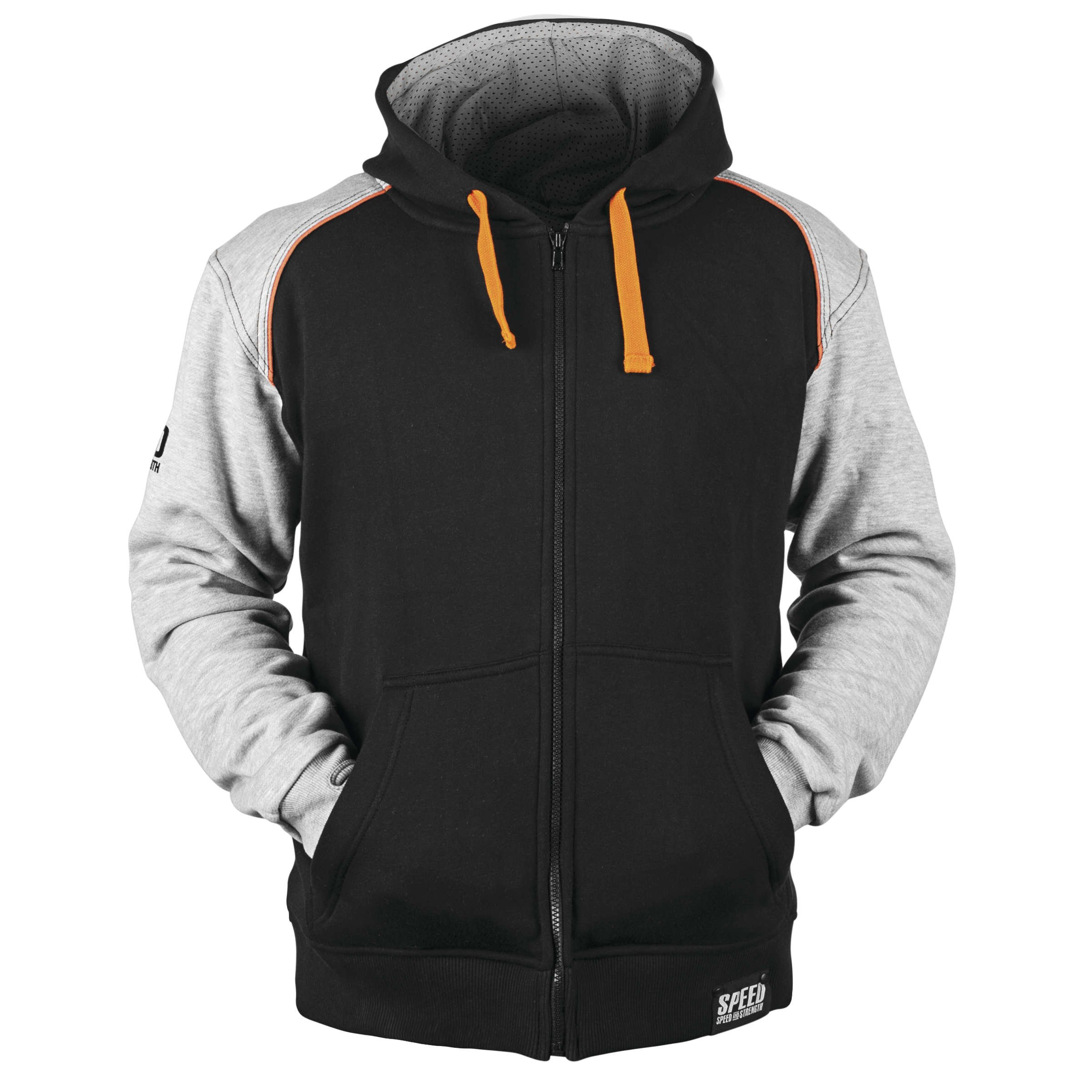 Speed and Strength Men's Cruise Missile Gray/Orange/Black Hoodie, M