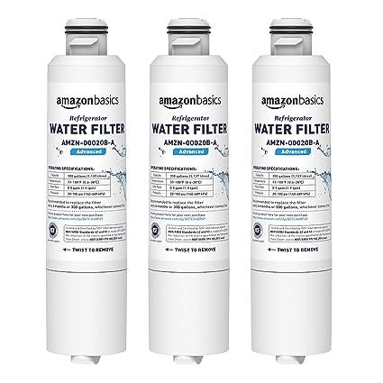 AmazonBasics - Filtro de agua de repuesto para frigorífico Samsung DA29-00020B - Filtración Avanzada
