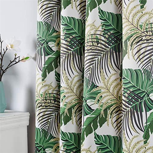 Fresh Country Style Printed Design Room Darkening Blackout Curtain Panels Grommet Top