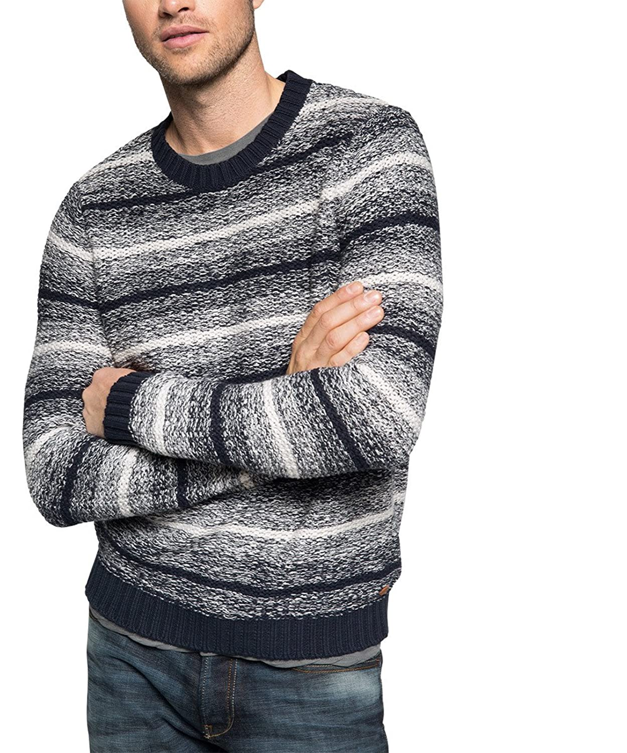 edc by Esprit Men's Grobstrick Long Sleeve Jumper