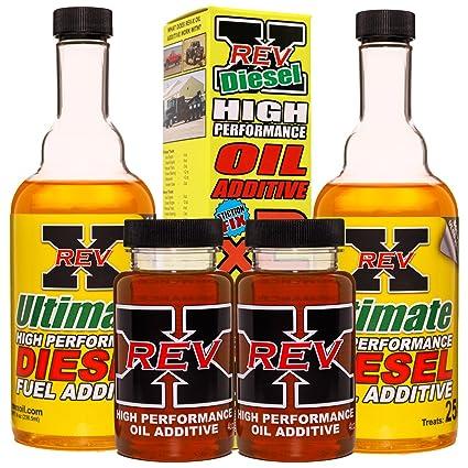 REV-X Super Ultimate Kit for Diesel - 4oz High Performance Oil Additive (2