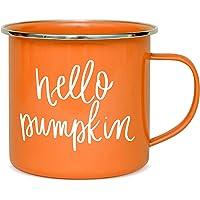 Sweet Water Decor Pumpkin Coffee Mugs | 18oz Galvanized Steel Campfire Style Coffee Cup | Autumn Mug Great for Halloween…