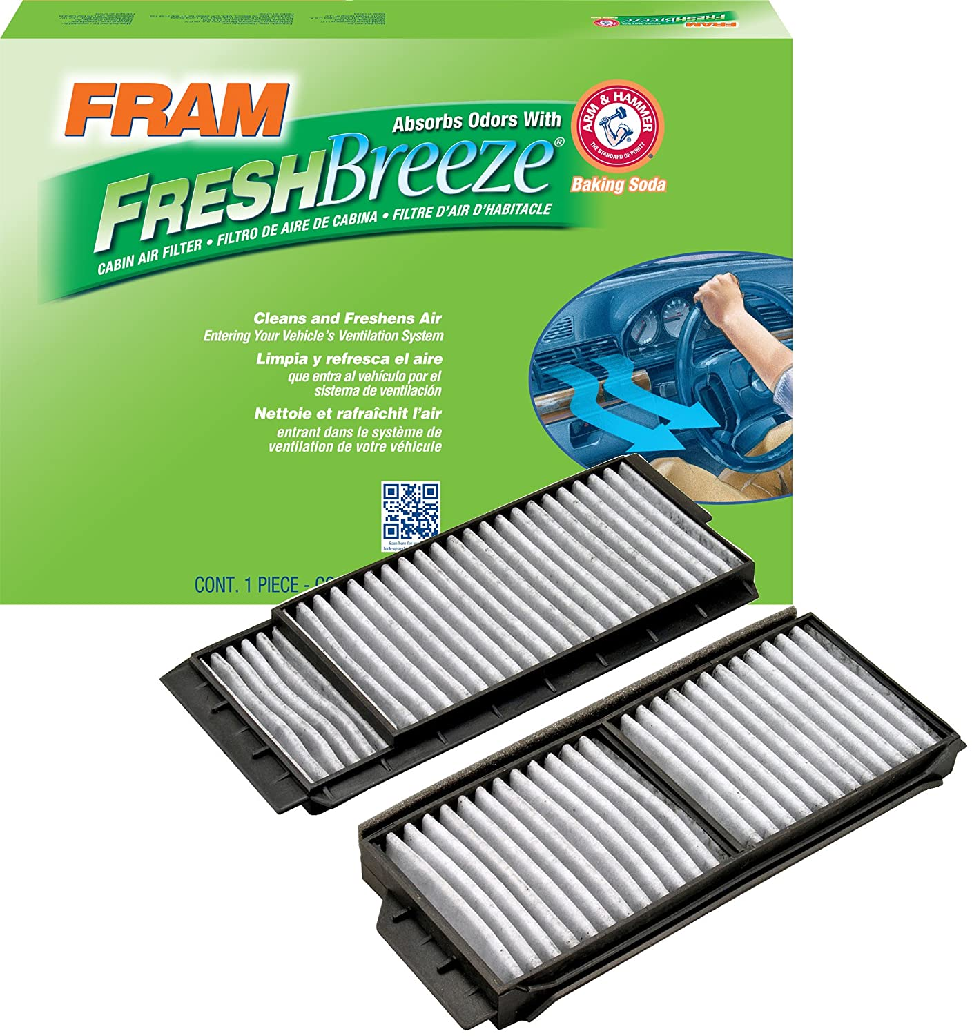 Fram Cf10218 Fresh Breeze Cabin Air Filter With Arm 2009 Mazda 5 Fuse Box Hammer Automotive