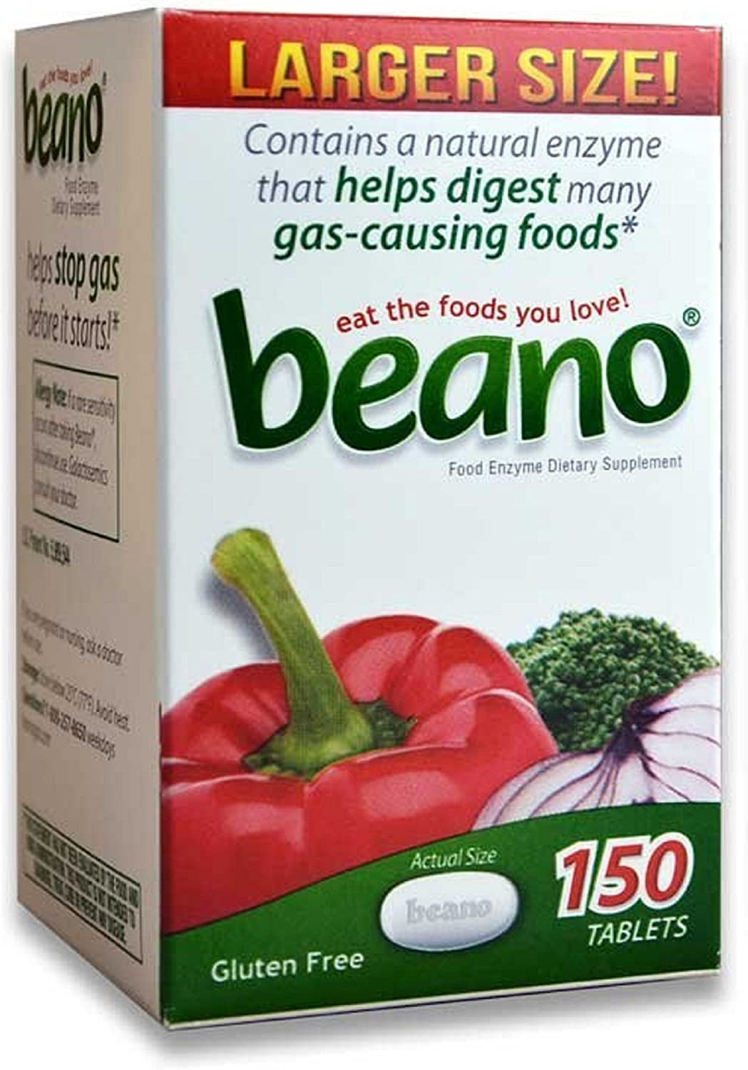 Beano® Prevents Gas & Bloating   Effective And Easy To Take - 150 Tablets