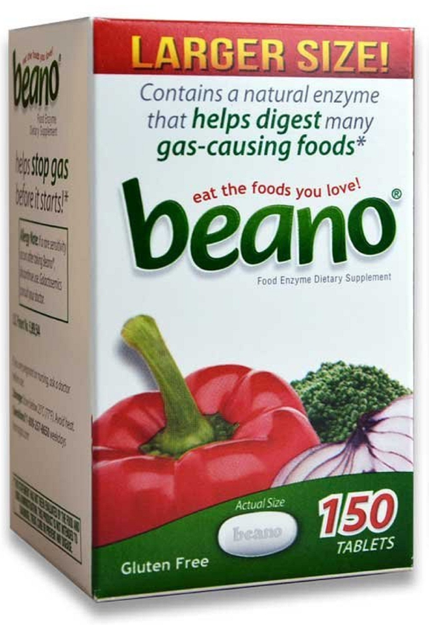 Beano® Prevents Gas & Bloating | Effective And Easy To Take - 150 Tablets by Beano