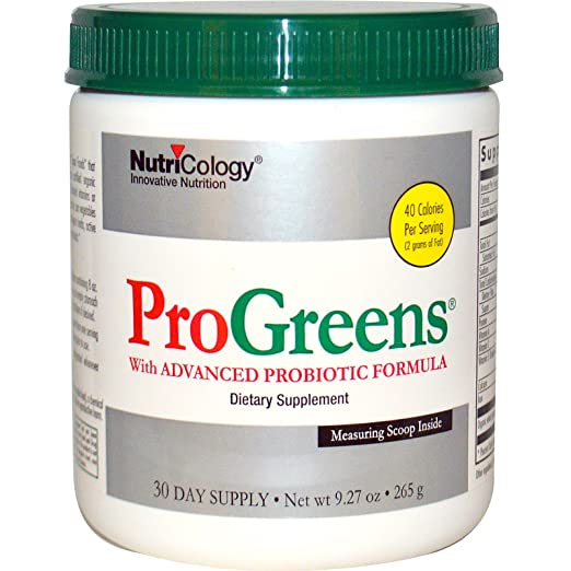 Amazon.com : Nutricology, ProGreens, with Advanced Probiotic Formula, 9.27 oz (265 g) - 2pc : Grocery & Gourmet Food