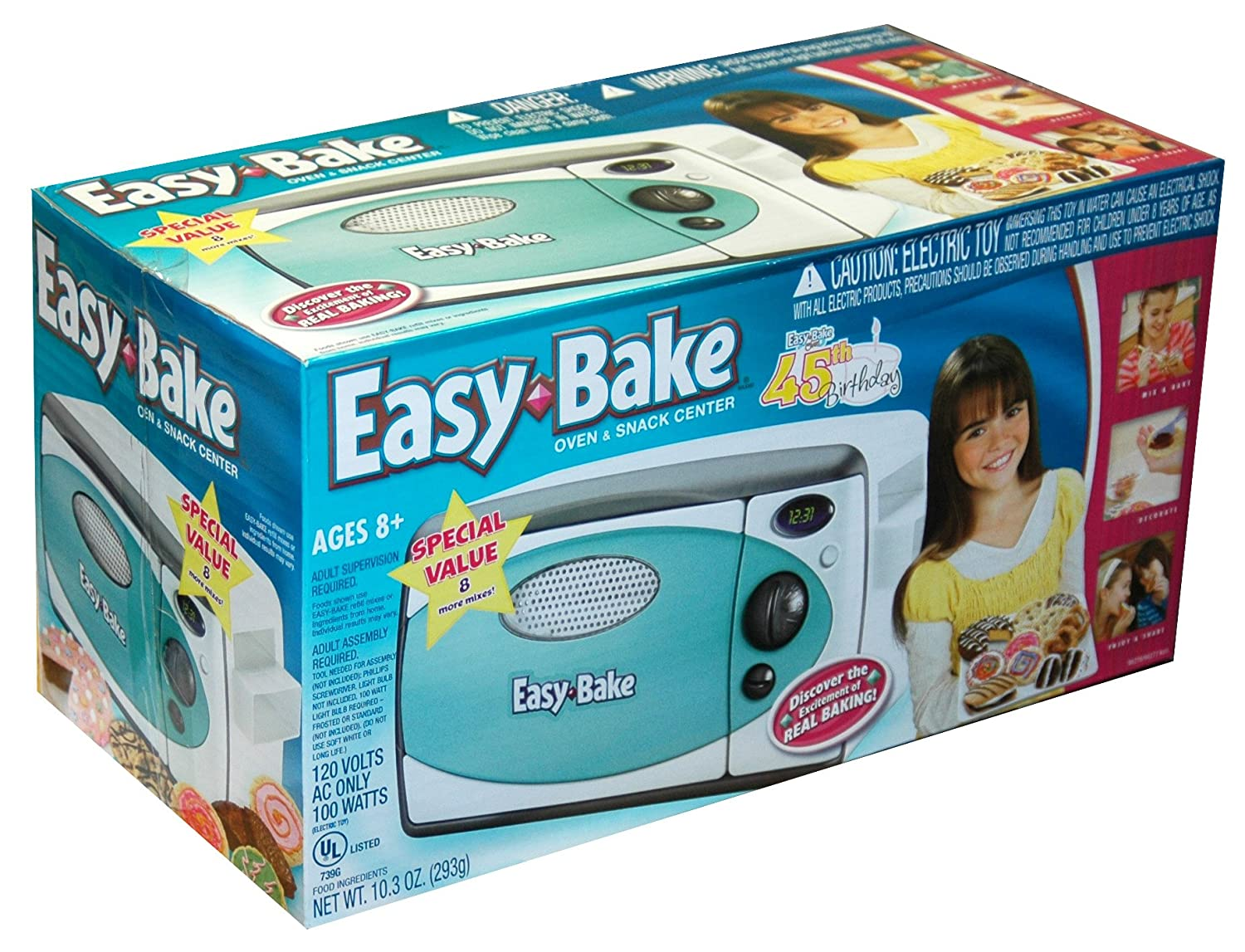 Easy Bake Oven & Snack Center, Includes 11 Mixes, 2 Baking Pans and Utensils