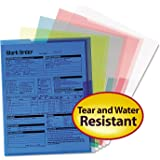 Smead Project Jackets, Letter, Poly, Clear/Translucent: Blue/Green/Yellow, Pack of 5, 2 Packs