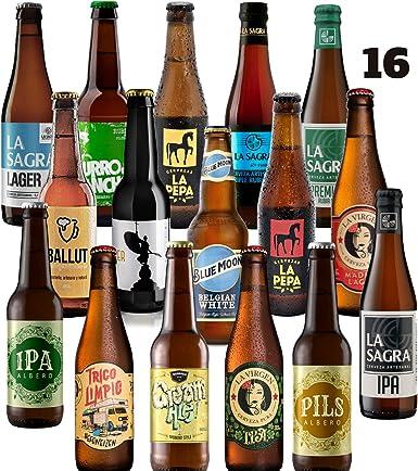 Pack de 16 cervezas artesanas Rubias. El mejor regalo. Incluye La ...