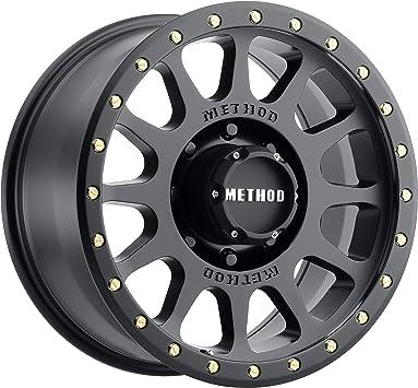 0 mm offset Method Race Wheels Grid Matte Black Wheel with Zinc Plated Accent Bolts 17x8.5//6x5.5, 0mm offset