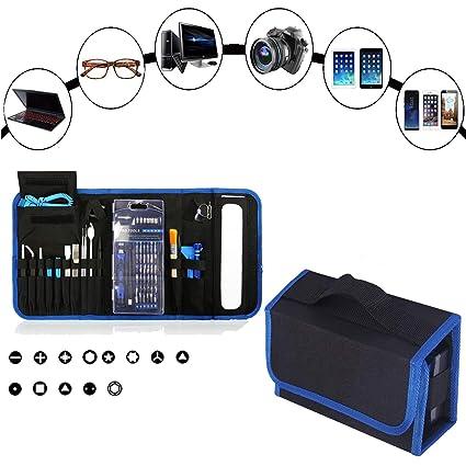 Nowai - Kit de destornilladores magnéticos de precisión 92 en 1, calidad profesional - Incluye: Cepillo, herramientas de reparación para iPhone, ...
