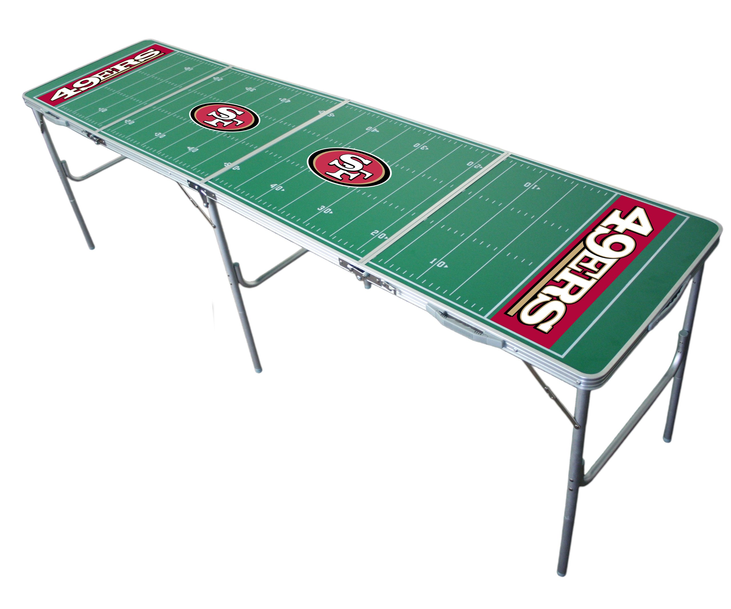 San Francisco 49ers 2x8 Tailgate Table by Wild Sports by Wild Sports