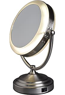 floxite mirror. floxite daylight cosmetic mirror, 8 x mag mirror t