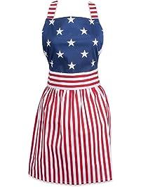 DII 100% Cotton, Trendy & Fashion Daisy Skirt Kitchen Women Apron, Adjustable Neck & Waist Ties, Machine Washable...