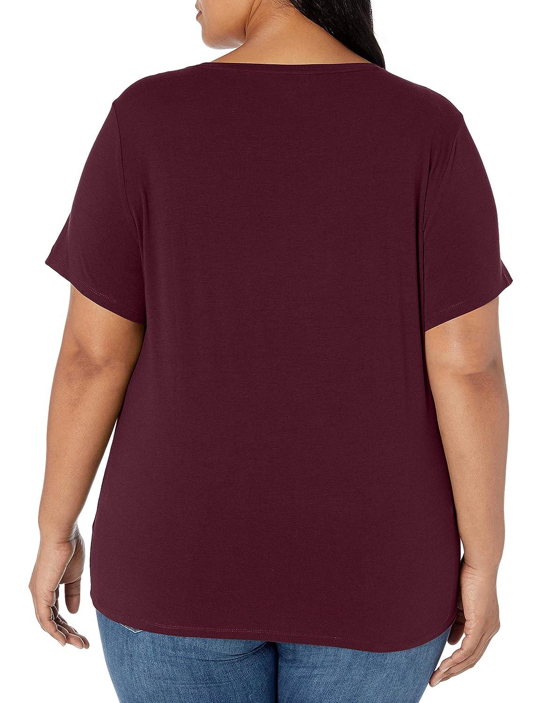 Marchio Essentials 2-Pack Tech Stretch Short-Sleeve Crewneck T-Shirt Donna