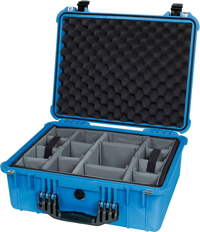 Comes with Grey CVPKG dividers. Blue /& Black Pelican 1550 Case