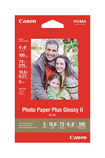 Amazoncom Canon Photo Paper Plus Glossy Ii 4 X 6 Inches 100