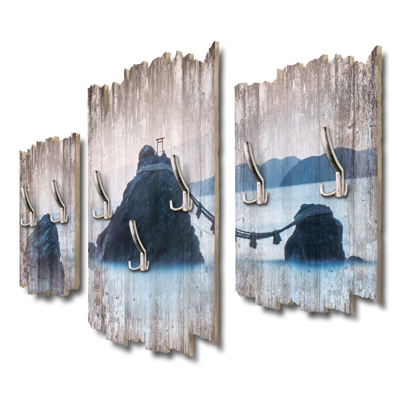 Kreative Feder Meoto IWA Japan Designer Wandgarderobe Flurgarderobe Wandpaneele 95 x 60 cm aus MDF DTGH076