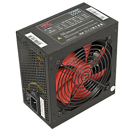 HKC® V-POWER 550 Watt ATX PC-Netzteil, Schutzschaltkreise: OPP, OCP, OVP, SCP, 20+4pin Stromversorgung, PFC, leise, 120mm FAN