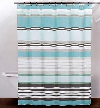 DKNY Fabric Shower Curtain    Urban Lines, Reef Blue