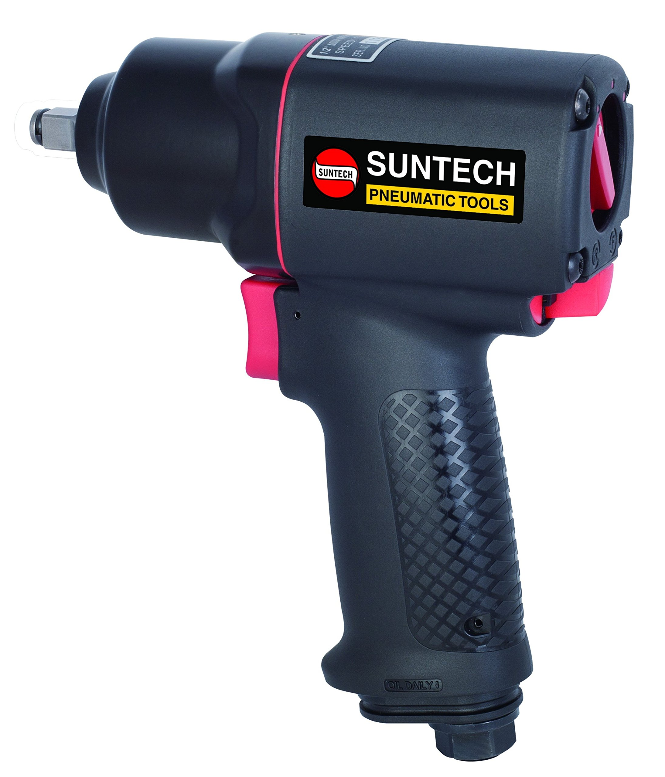 SUNTECH SM-41-4114P 3/8'' Air Impact Wrench - Twin Hammer Composite