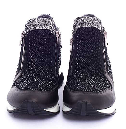 Amazon.com | BOBERCK Victoria Collection Womens Rhinestone Fashion Sneakers | Fashion Sneakers