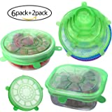 Silicone Stretch Lids Reusable,Set of 6 Durable Silicone Food Saver Covers,Expandable to Fit Various Sizes and Shapes of Containers. Superior for Keeping Food Fresh.Best Gift For Friends