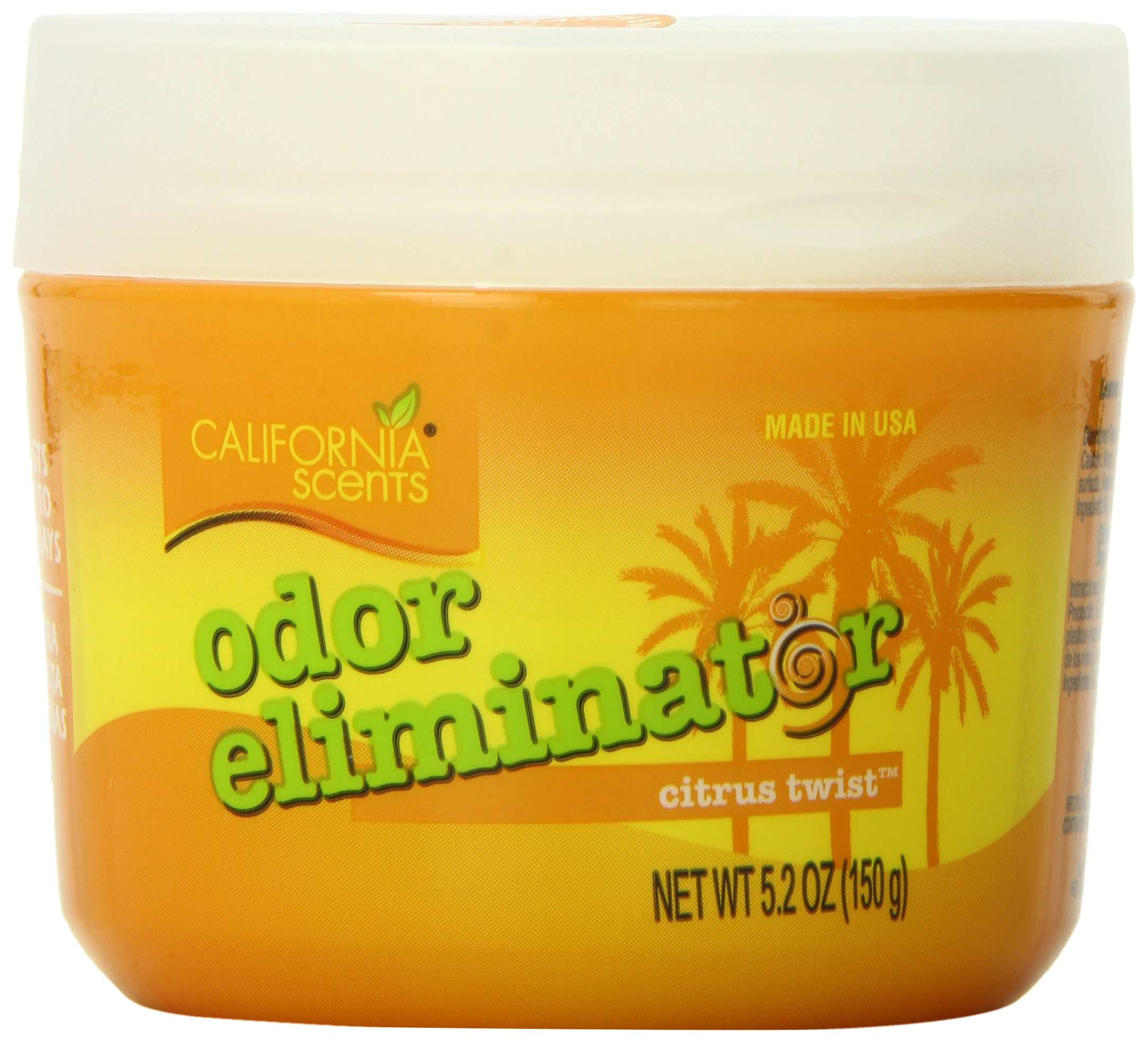 California Scents Odor Eliminator, Citrus Twist, 5.2-Ounce Jars (Pack of 12)