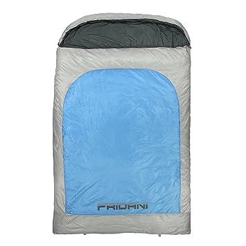 Fridani 2 Personas Manta Saco de Dormir BB 235x150cm XXL -22°C Repelente al Agua Caliente Lavable: Amazon.es: Deportes y aire libre