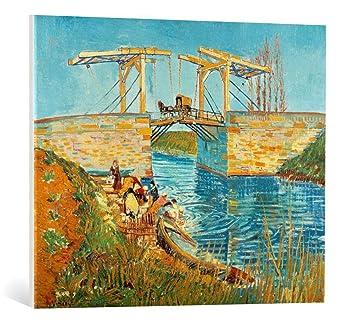 Kunst Fur Alle Leinwandbild Vincent Van Gogh Die Brucke Von Langlois In Arles Mit Wascherinnen