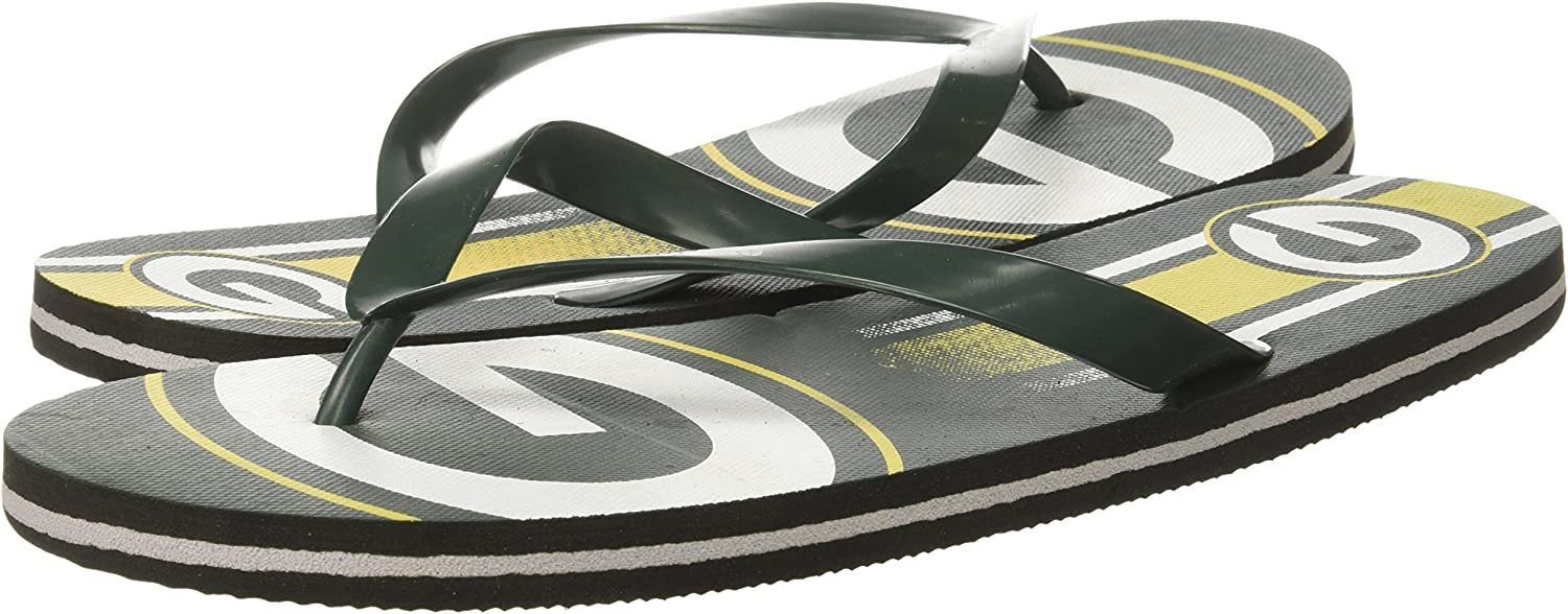 Green Bay Packers Unisex Gradient Big Logo Flip Flop Medium