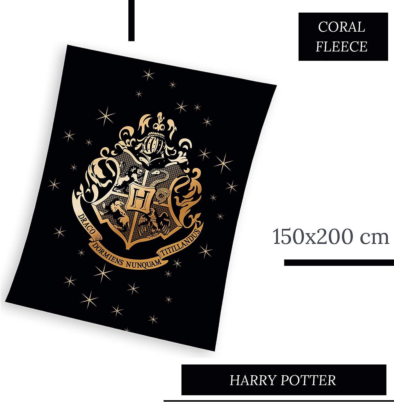 Fleece Decke Harry Potter schwarz 150x200 cm