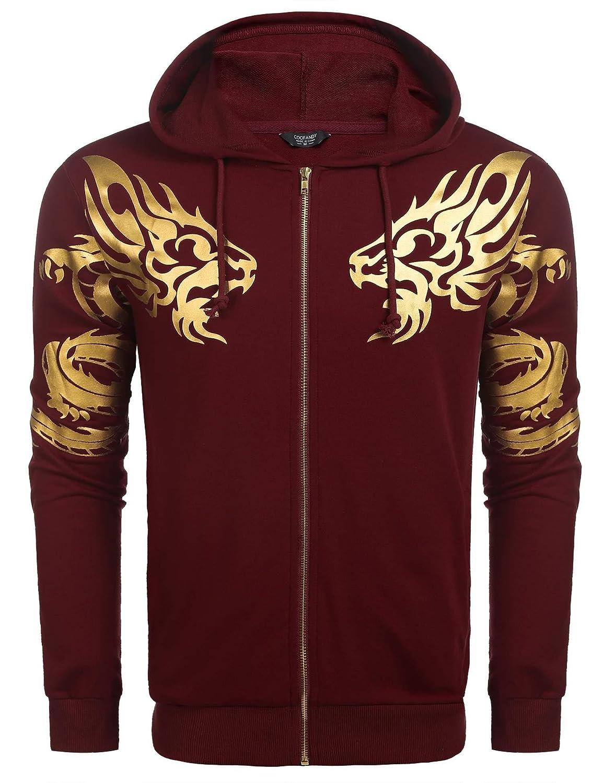 COOFANDY Men's Pullover Camo Hooded Sweatshirt