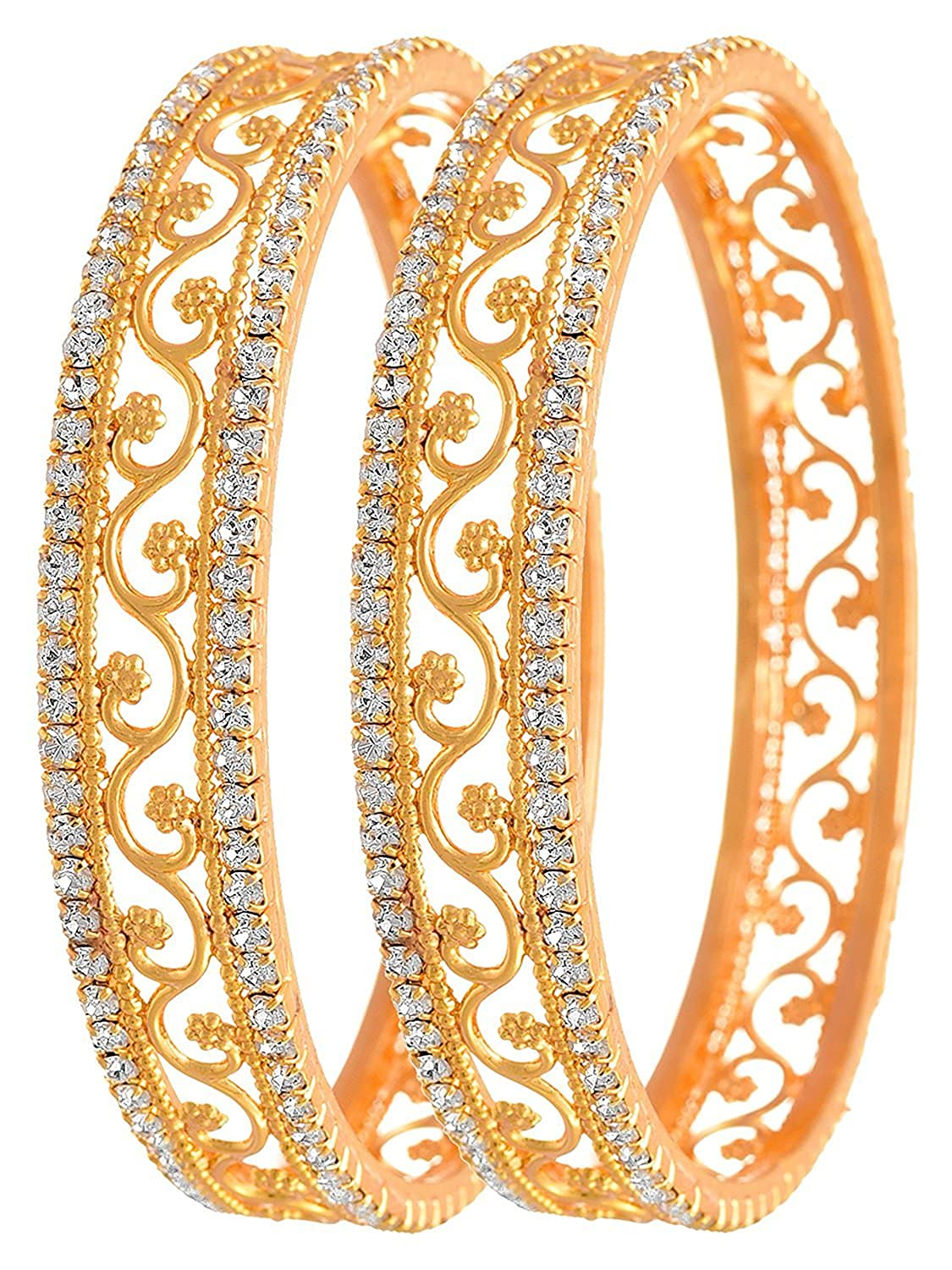 Bridal & Wedding Party Jewelry Trustful Indian Bollywood Traditional Goldplated Kada Bracelets Bangle Jewellery 2*6 With A Long Standing Reputation