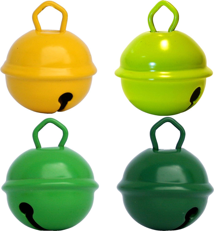 Cascabeles de Colores Grandes Amarillo + limo Verde + Verde ...