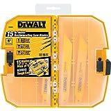 DEWALT DW4890 Bi-Metal Reciprocating Saw Blade Tough Case Set, 15-Piece