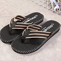 2021 Summer Beach Leisure Non-slip Flip Flops Men's Breathable To Keep The Skin Dry And Trendy Indoor And Outdoor Flip…
