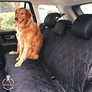 PETNINJA Luxury Waterproof Pet Seat Cover for Cars Durable Dog Car