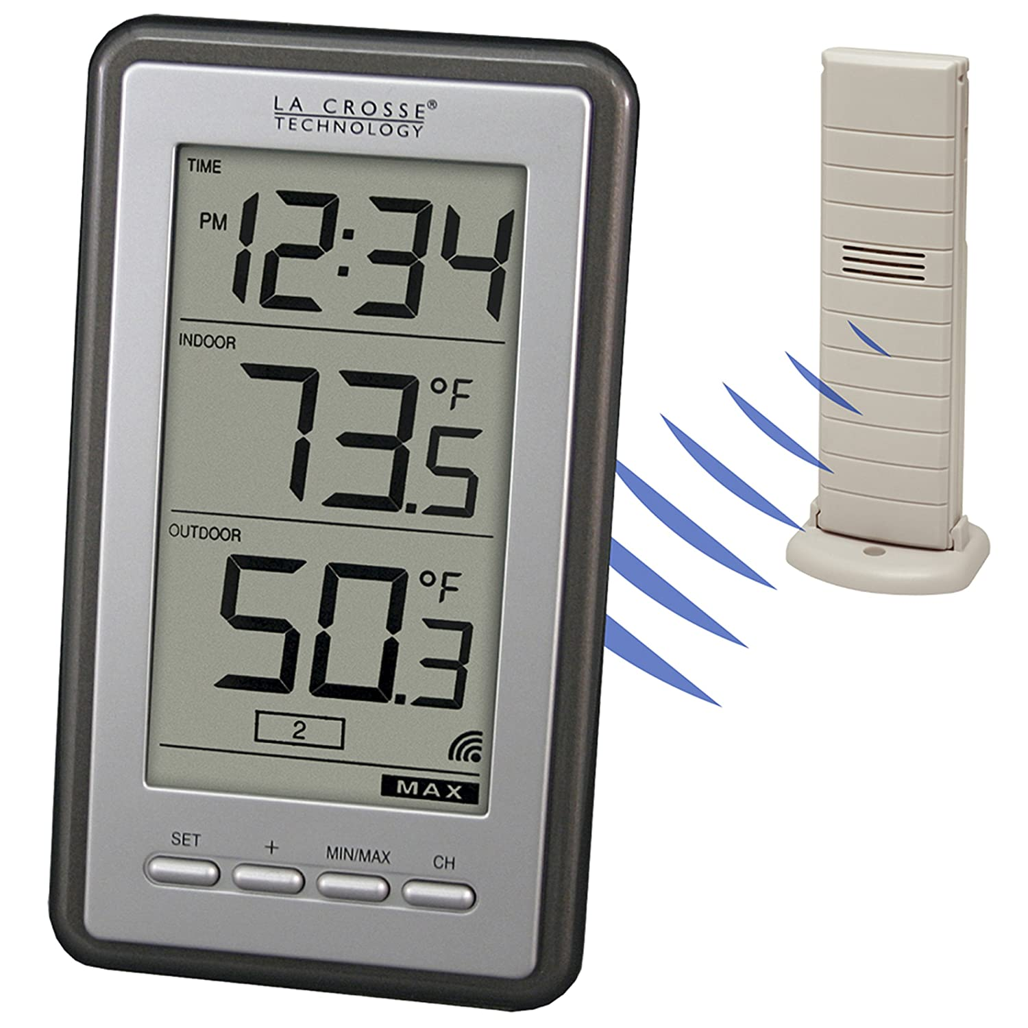 amazon com la crosse technology ws 9160u it int digital thermometer rh amazon com Remote Weather Thermometer Weather Instruments Thermometer