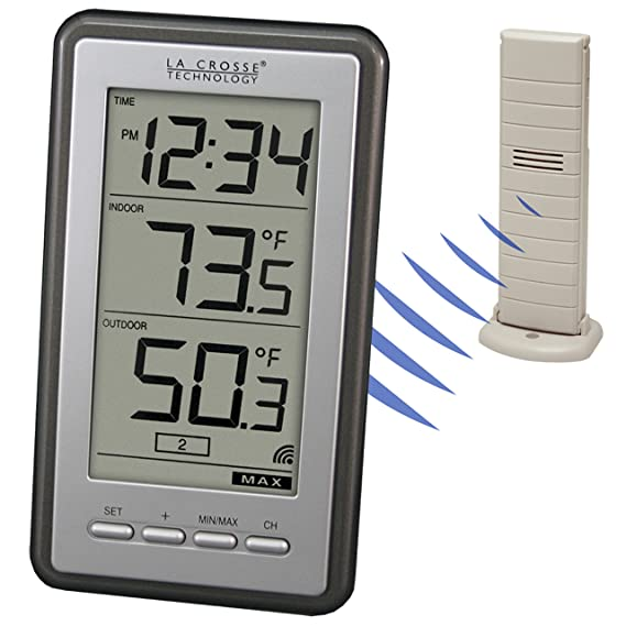 LA CROSSE TECHNOLOGY LTD Thermometer, Wireless, Extra-Large Digits: Amazon.es: Hogar
