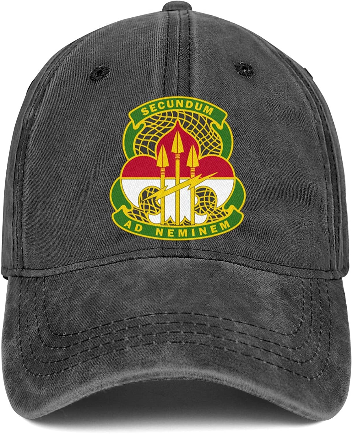 United States The Army Cyber Command Logo Retro Washed Distressed Baseball Caps Style Twill Denim Jean Hat Women
